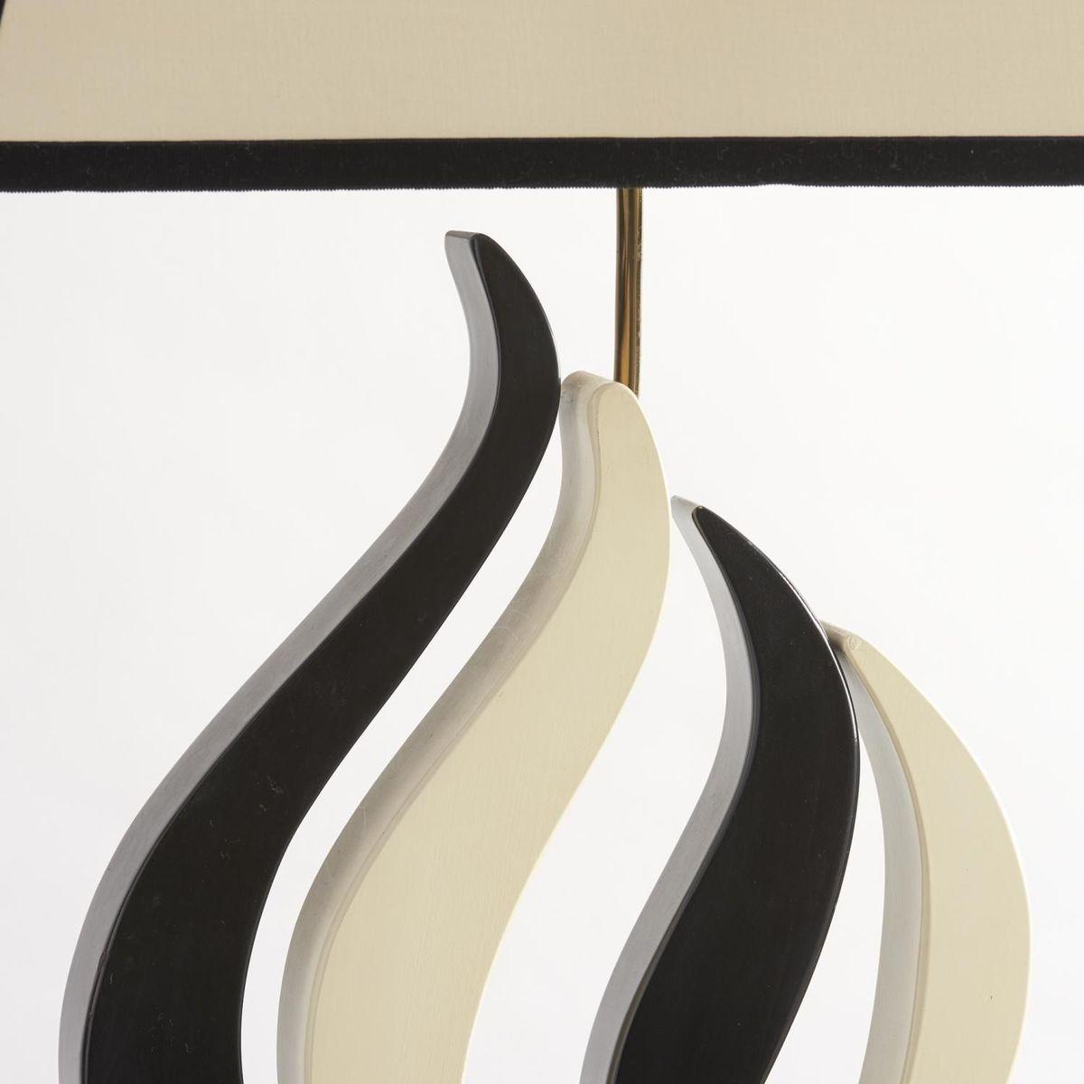 tischlampen aus metall in schwarz und wei 1950er 2er set bei pamono kaufen. Black Bedroom Furniture Sets. Home Design Ideas