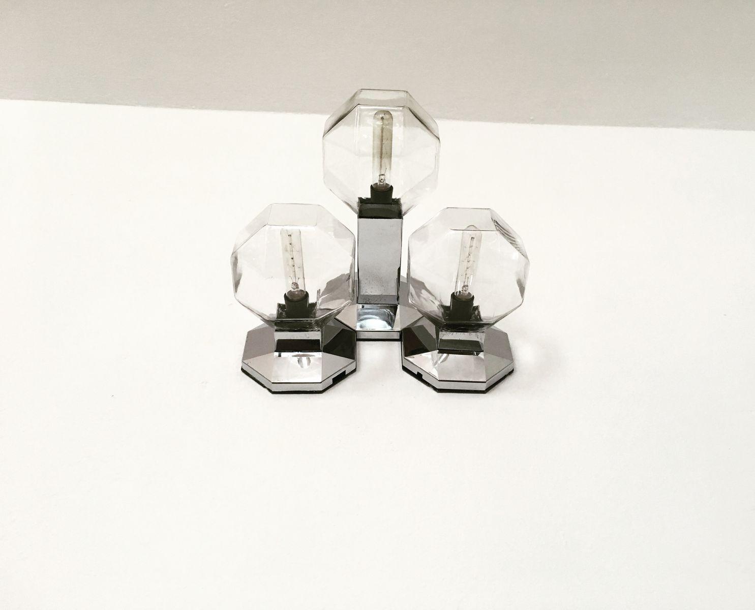 Modulare Space Age Wandlampe von Motoko Ishii für Staff, 1970er