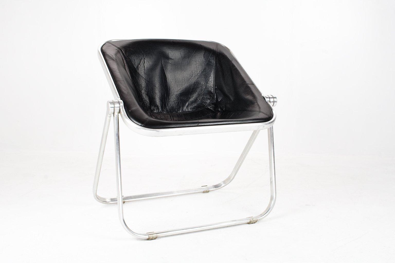 Italienischer Plona Sessel aus Leder von Giancarlo Piretti für Castell...