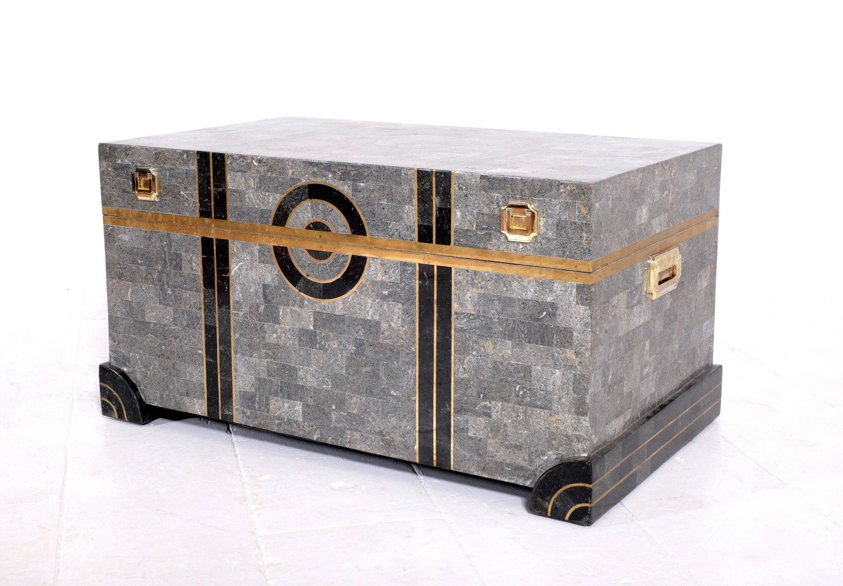 Marmor Holz Couchtisch Von Robert Marcius 1970er Bei Pamono Kaufen