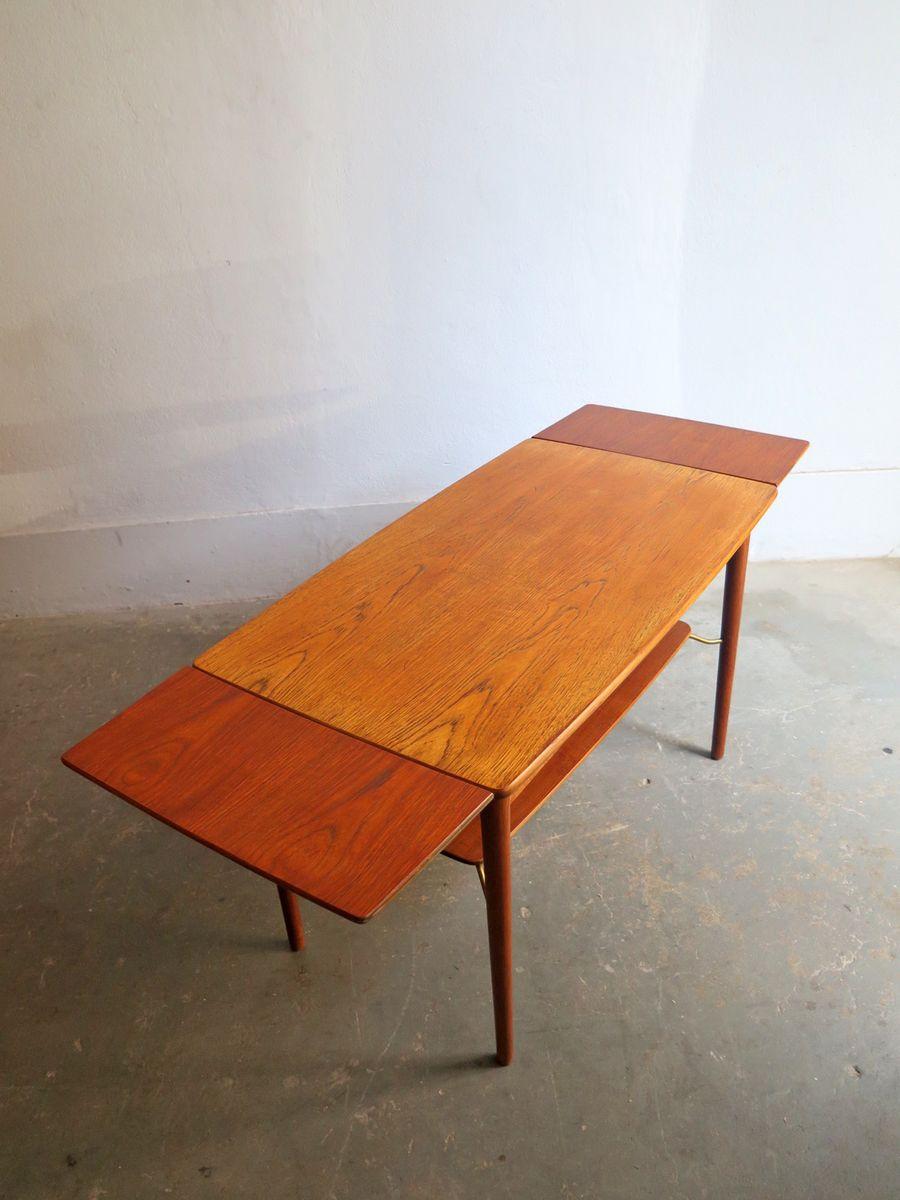 d nischer tisch aus eiche mit 2 ausziehplatten 1950er bei pamono kaufen. Black Bedroom Furniture Sets. Home Design Ideas