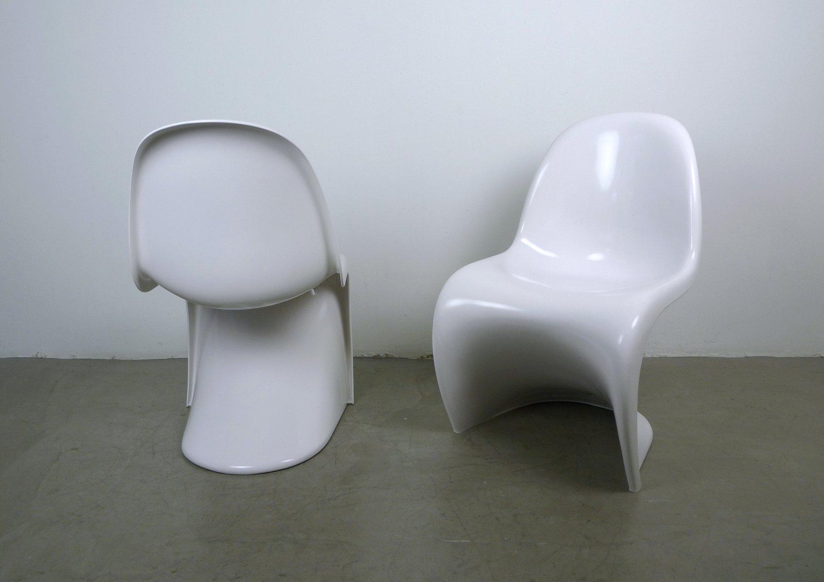 wei e panton sessel von verner panton f r fehlbaum 1971 2er set bei pamono kaufen. Black Bedroom Furniture Sets. Home Design Ideas