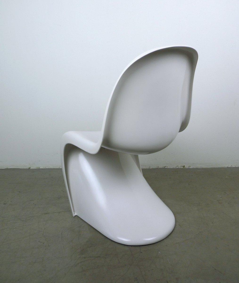 White Panton Chairs by Verner Panton for Vitra, 1970s, Set of 2 for ...