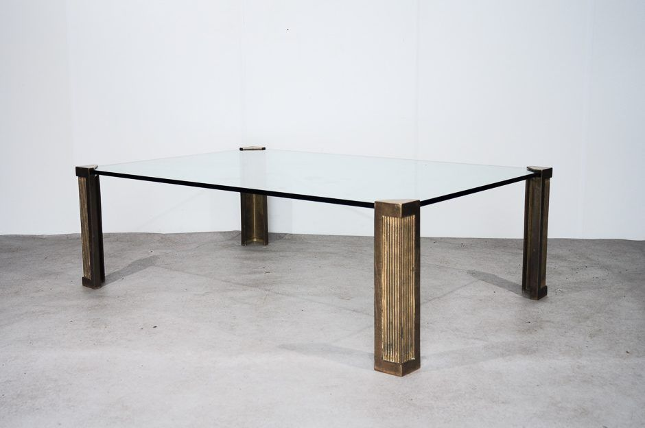 modell t14 glas messing couchtisch von peter ghyczy 1970er bei pamono kaufen. Black Bedroom Furniture Sets. Home Design Ideas