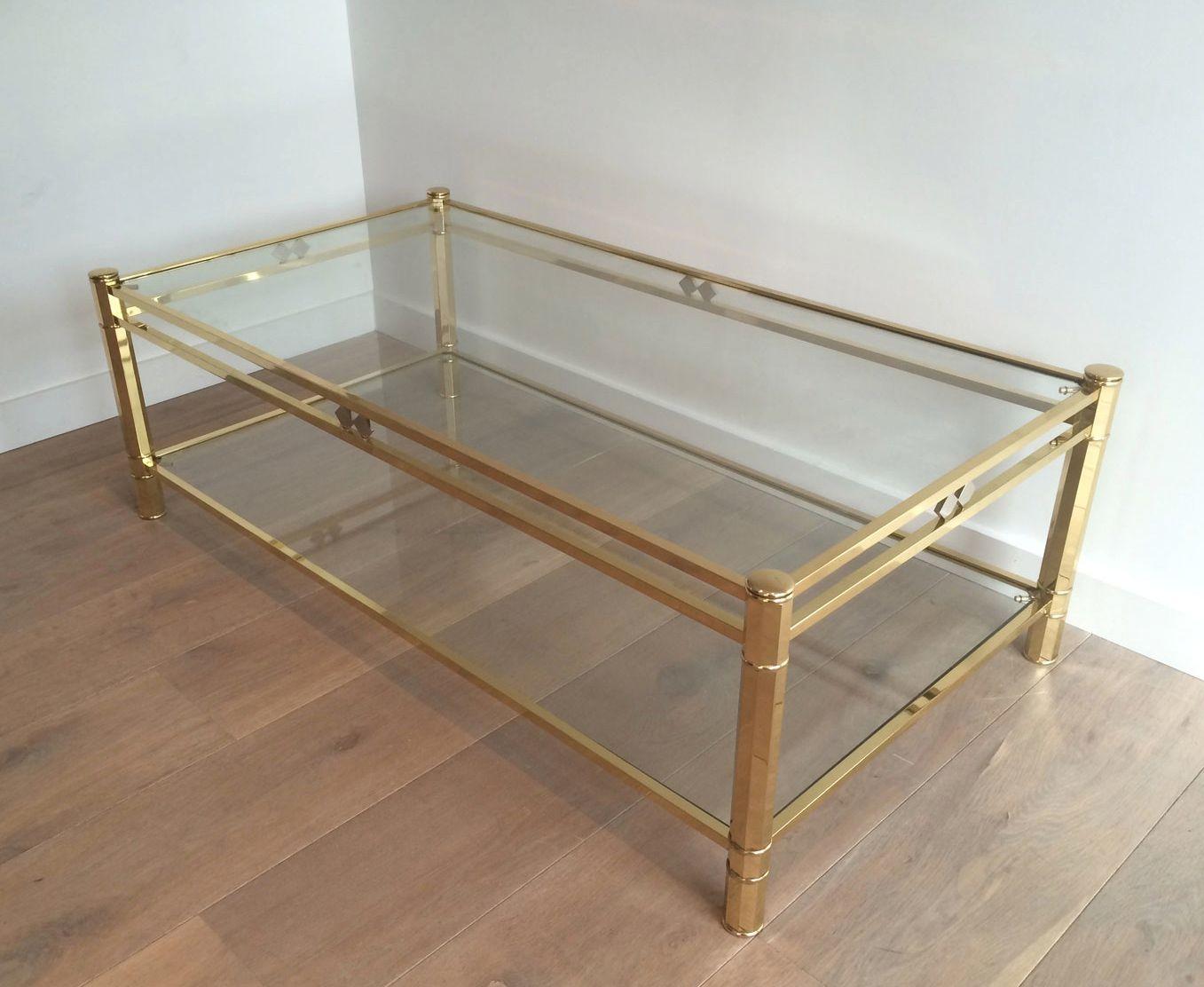 table basse laiton chrome 1970s en vente sur pamono. Black Bedroom Furniture Sets. Home Design Ideas