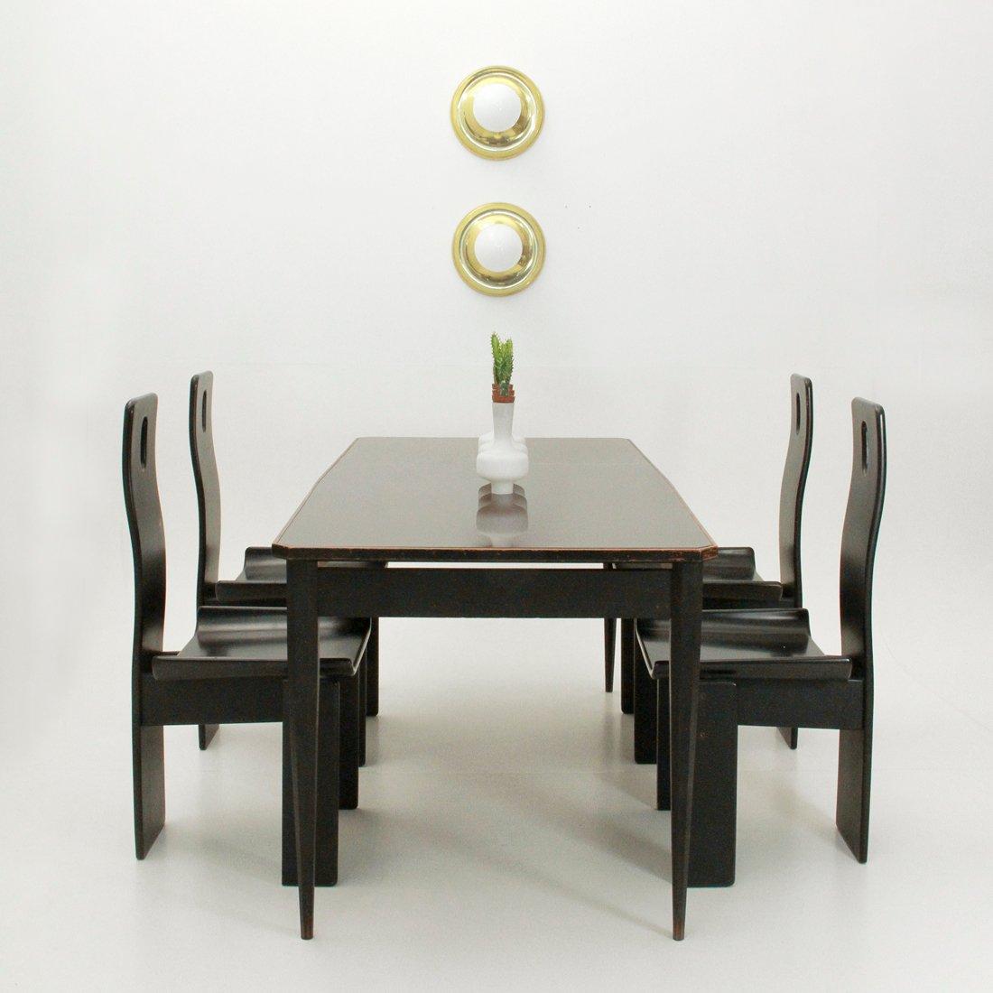 table de salle manger avec plateau de verre italie 1960s en vente sur pamono. Black Bedroom Furniture Sets. Home Design Ideas