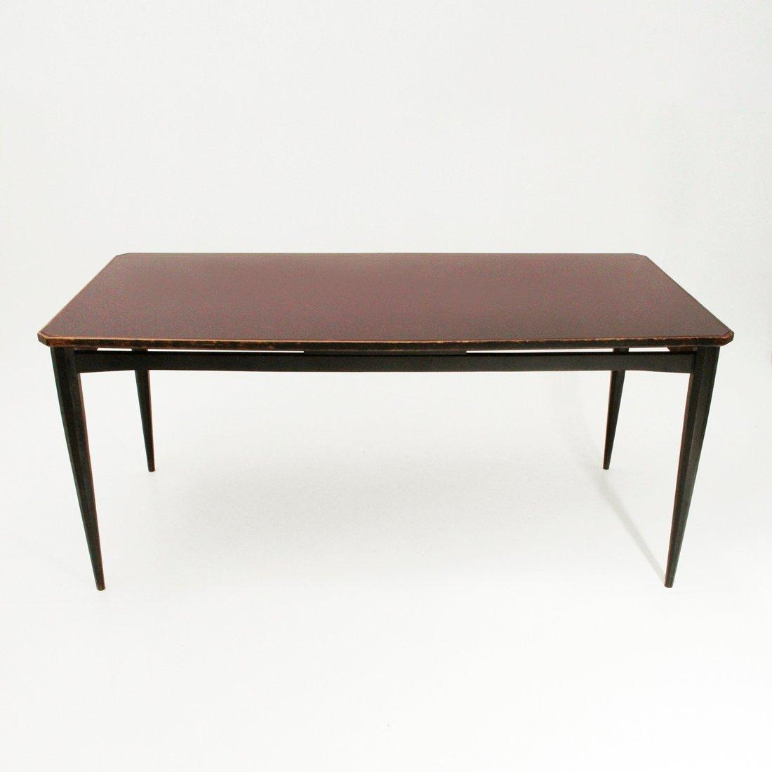 Table de salle manger avec plateau de verre italie - Table salle a manger plateau verre ...