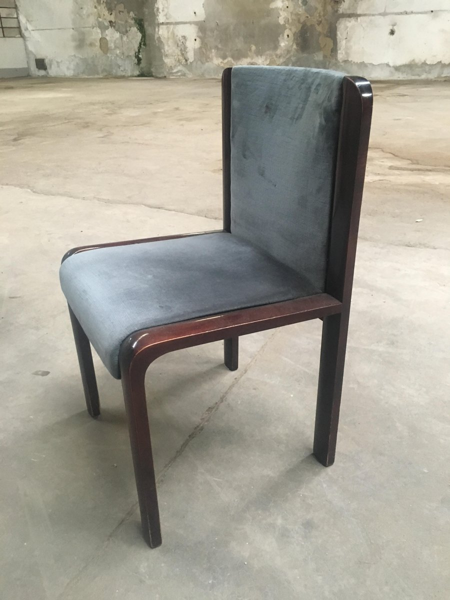 italienische mahagoni st hle 1970er 4er set bei pamono kaufen. Black Bedroom Furniture Sets. Home Design Ideas