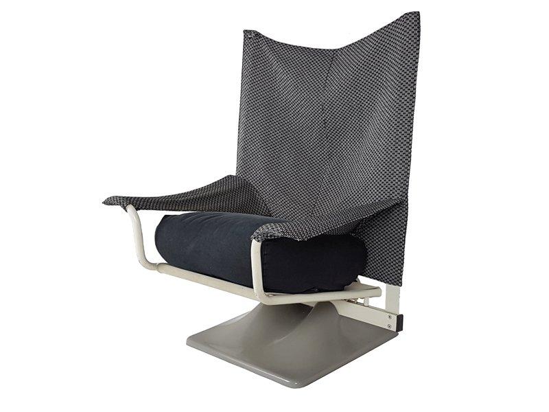 aeo sessel aus stoff in schwarz wei von paolo deganello archizoom associates f r cassina. Black Bedroom Furniture Sets. Home Design Ideas