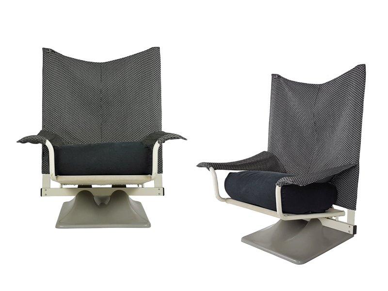 AEO Sessel aus Stoff in Schwarz & Weiß von Paolo Deganello & Archizoom...