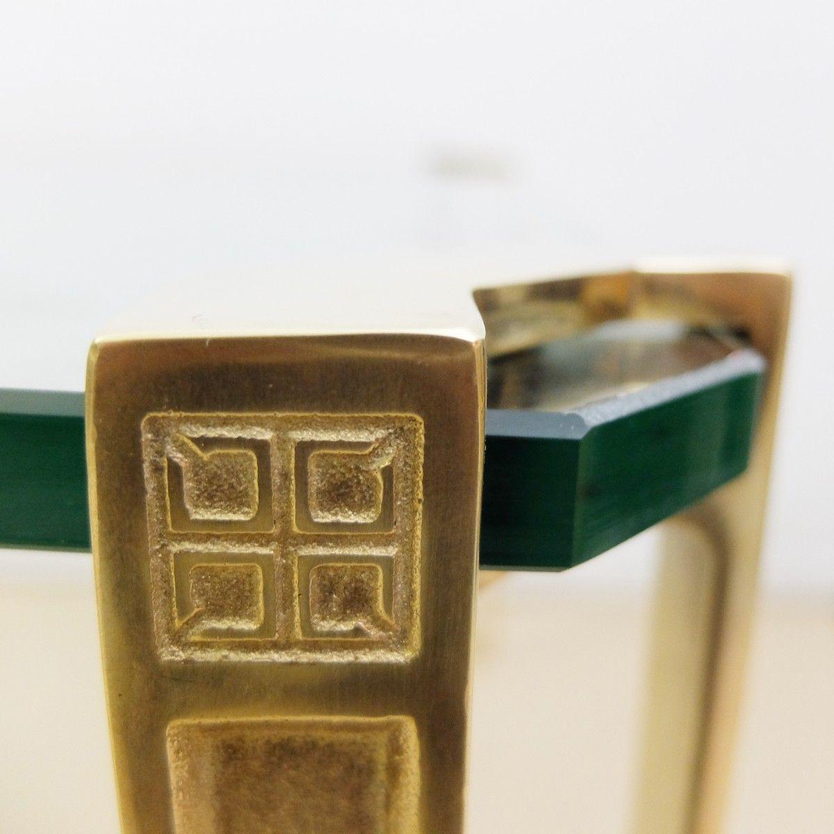 glas messing couchtisch von peter ghyczy 1970er bei pamono kaufen. Black Bedroom Furniture Sets. Home Design Ideas