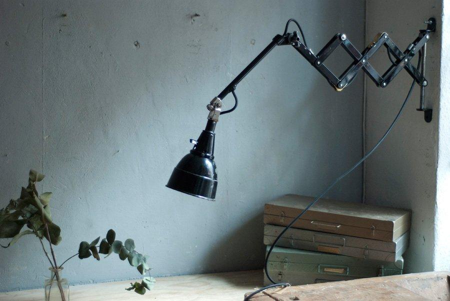 Modell 109 Scheren Lampe von Curt Fischer für Midgard, 1920er