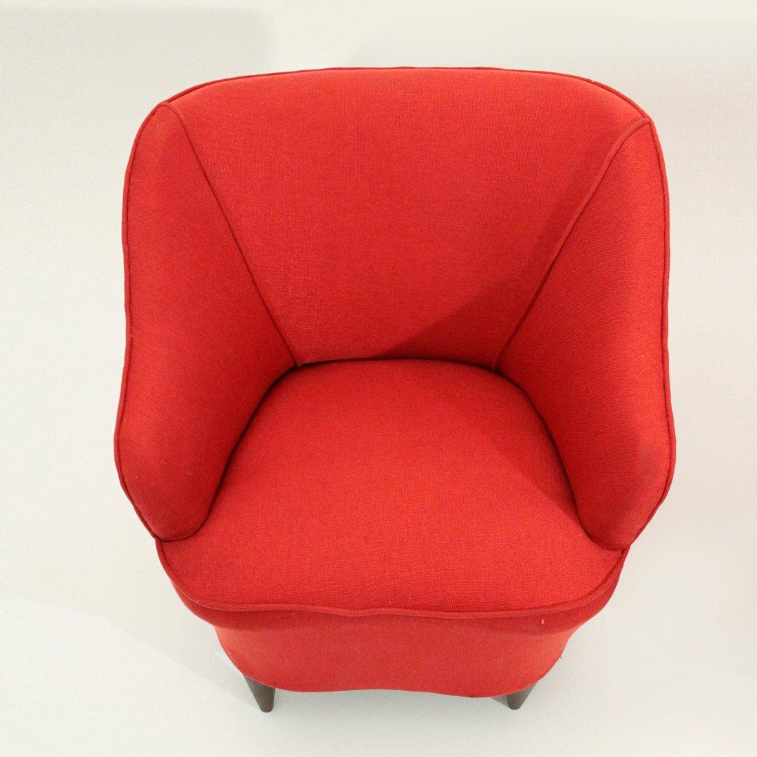 rote italienische sessel 1940er 2er set bei pamono kaufen. Black Bedroom Furniture Sets. Home Design Ideas