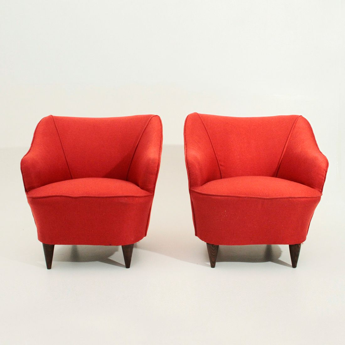 Italian Red Armchairs, 1940s, Set Of 2