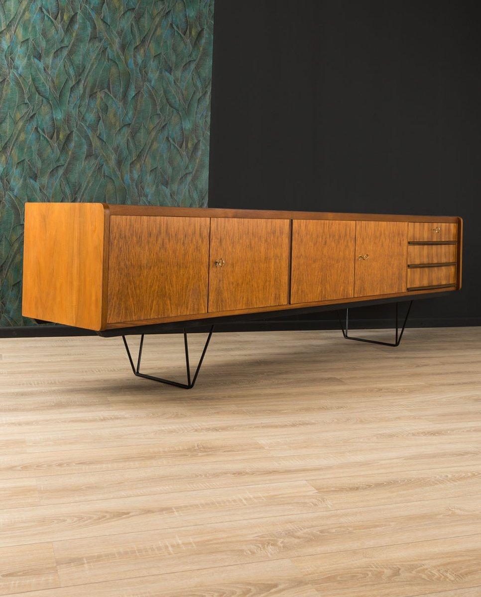 Sideboard mit Nussholz Furnier, 1950er