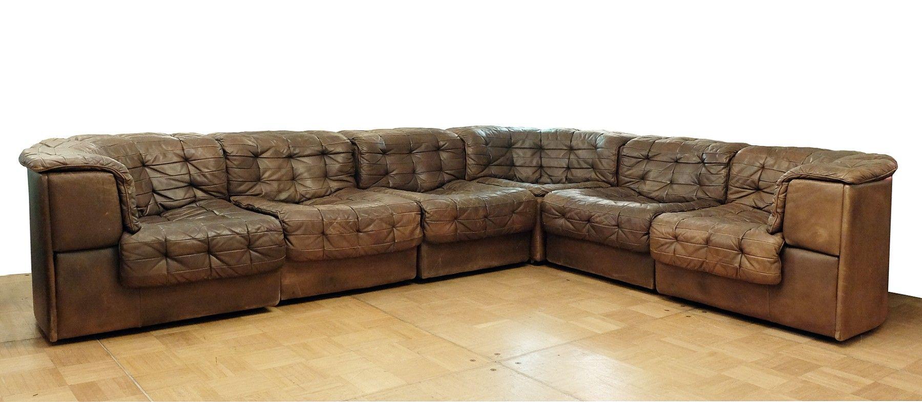 Sympathisch Großes Schlafsofa Dekoration Von Großes Modulares Vintage Ds-11 Sofa Mit Patchwork