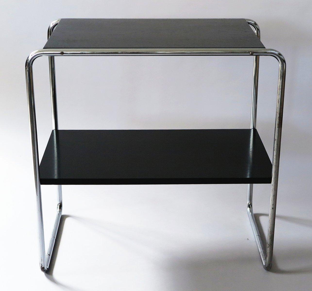 tubul rer beistelltisch mit ablage 1930er bei pamono kaufen. Black Bedroom Furniture Sets. Home Design Ideas
