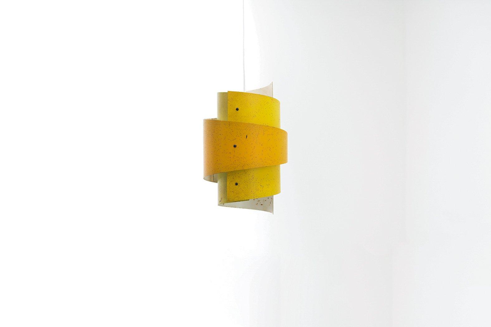 Dänische dreifarbige Vintage Deckenlampe von Lyfa