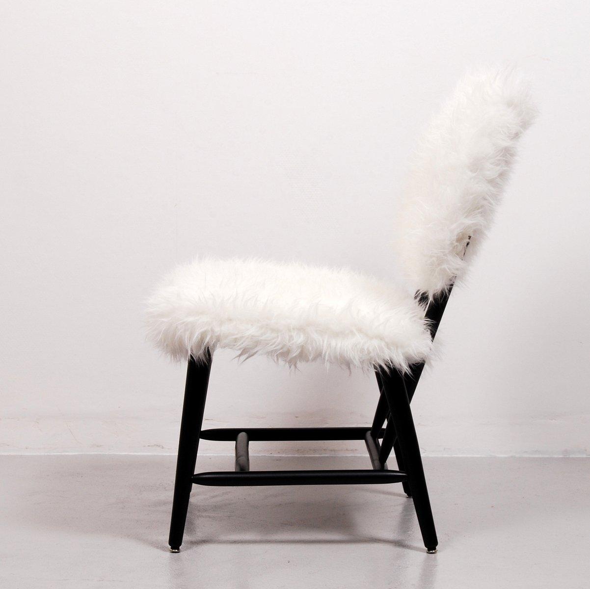 Schwedischer stuhl aus kunstfell 1950er bei pamono kaufen - Kunstfell fur stuhl ...