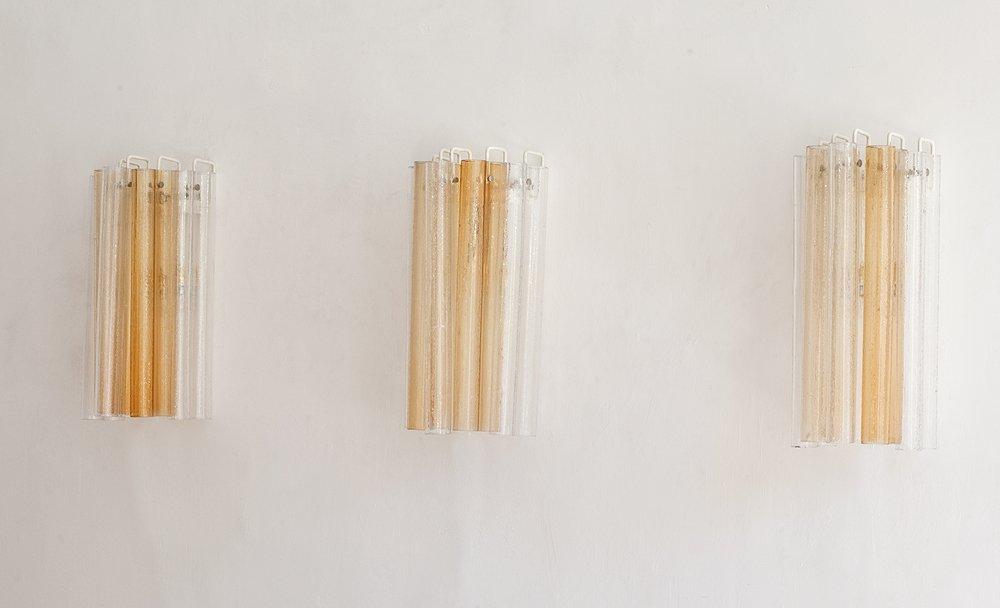 Italienische Tronchi Wandlampen, 1960er, 3er Set