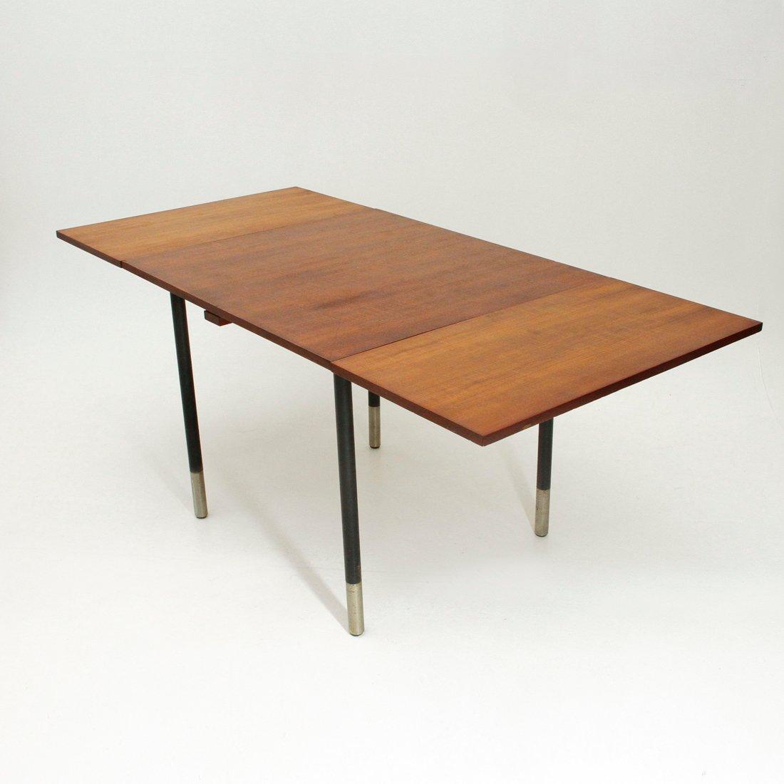 ausziehbarer quadratischer tisch aus teakholz von giampiero vitelli f r rossi di albizzate. Black Bedroom Furniture Sets. Home Design Ideas