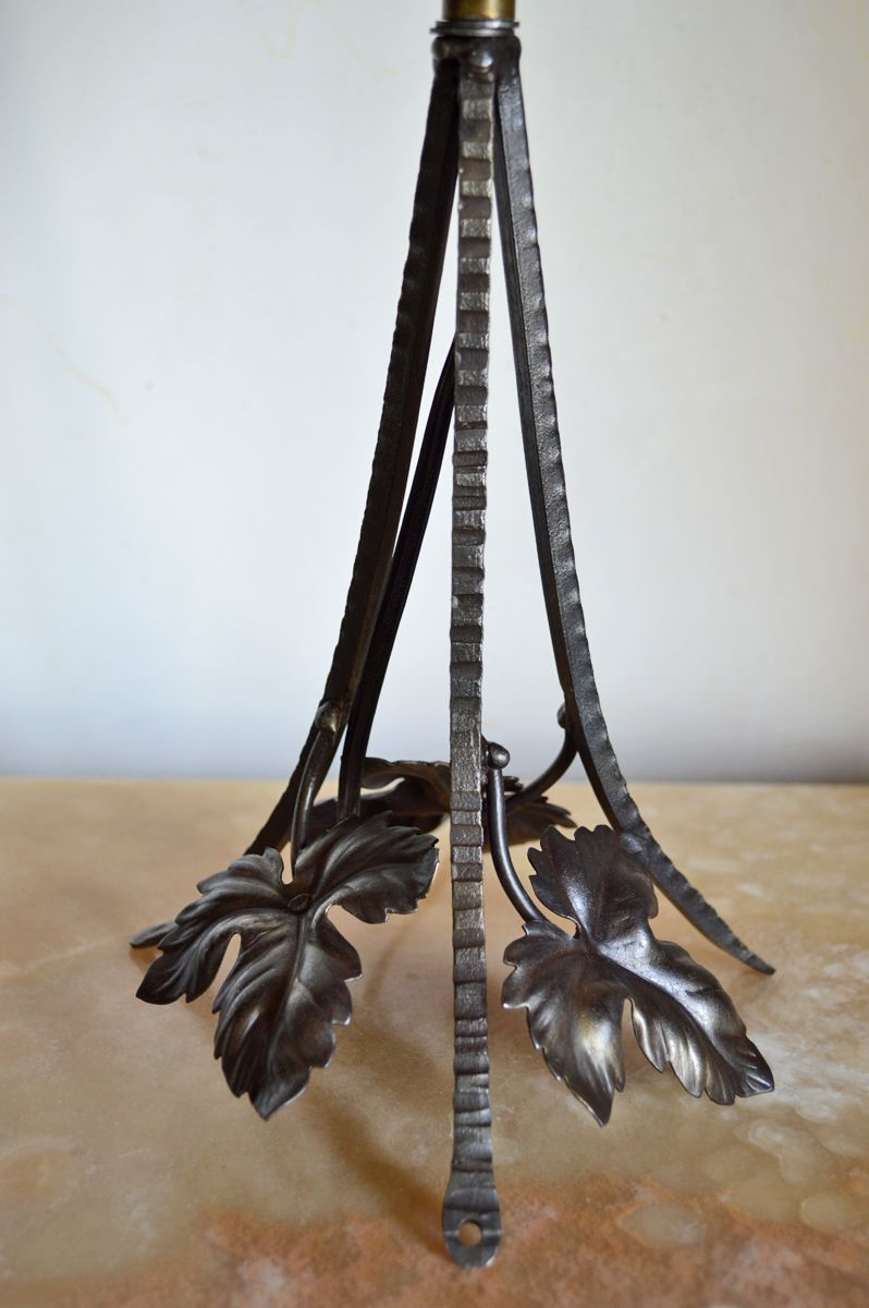 Lampe Art Deco En Fer Forge Par Charles Schneider En Vente Sur Pamono