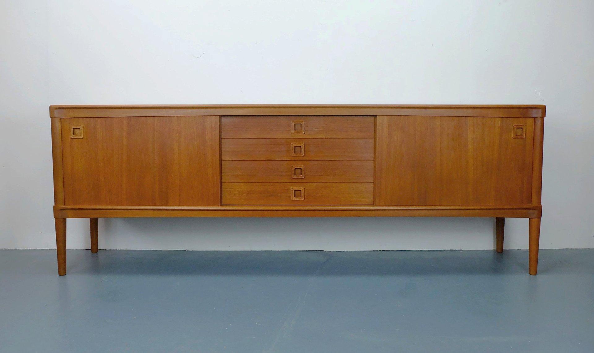 Teak Furnier Sideboard von H.W. Klein für Bramin, 1960er