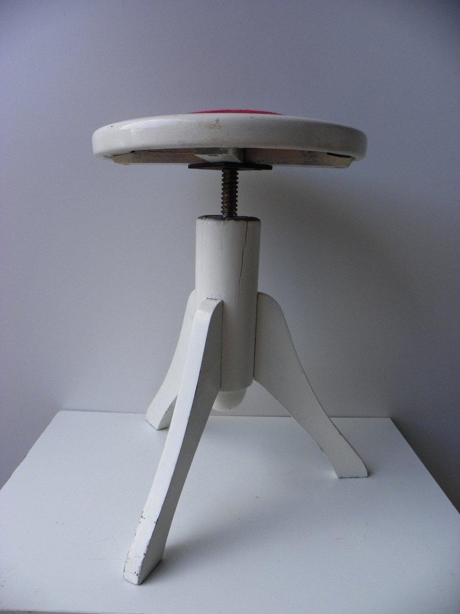 tabouret de piano rotatif blanc 1920s en vente sur pamono. Black Bedroom Furniture Sets. Home Design Ideas