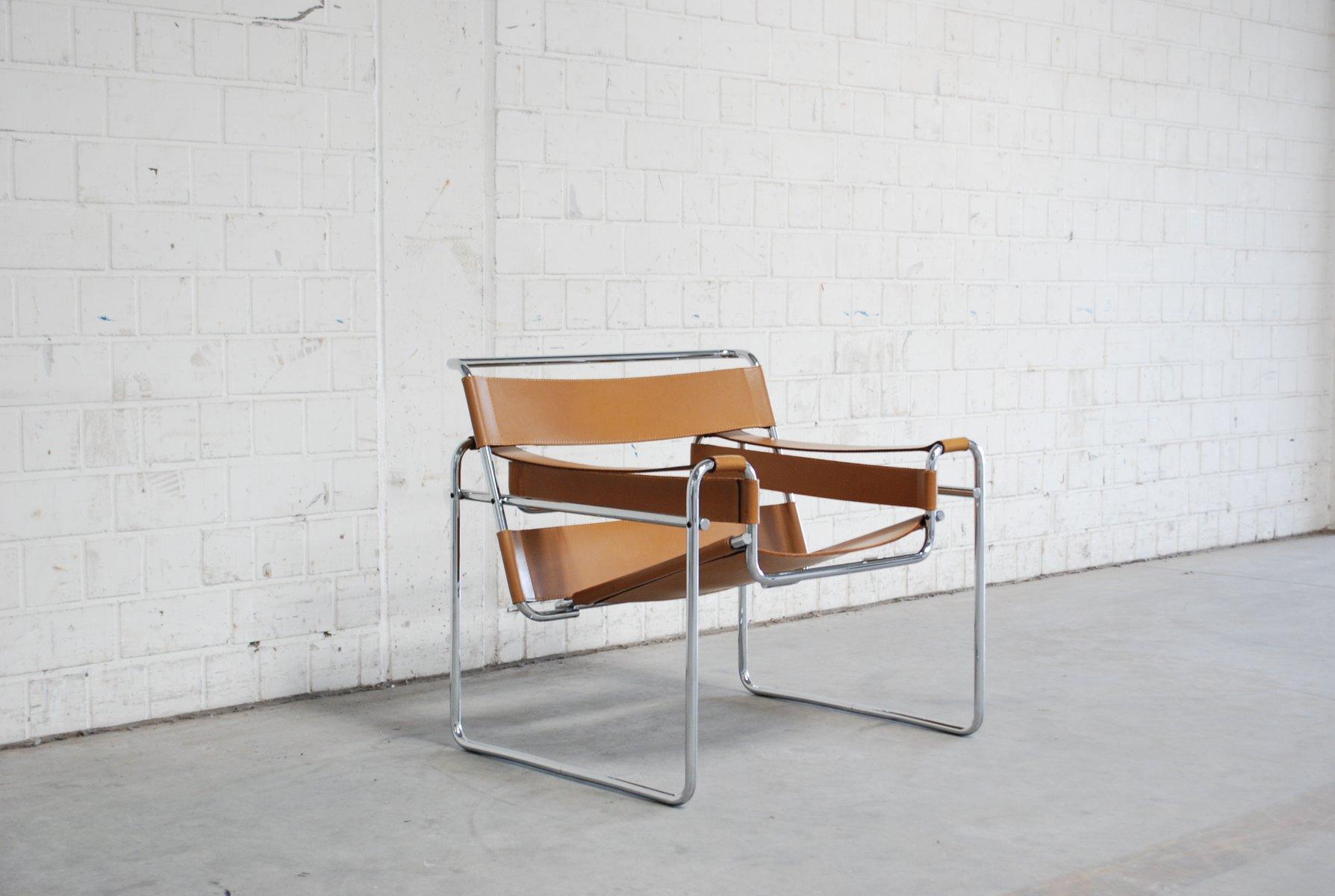 vintage b3 wassily stuhl von marcel breuer f r gavina. Black Bedroom Furniture Sets. Home Design Ideas