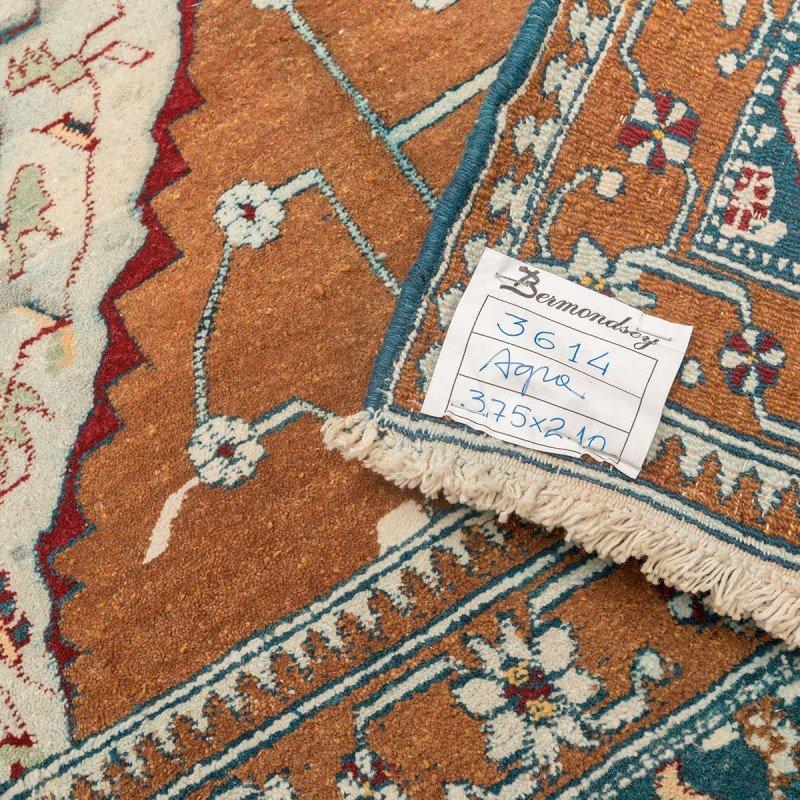 tapis agra du 19 me si cle rouge turquoise et beige en vente sur pamono. Black Bedroom Furniture Sets. Home Design Ideas