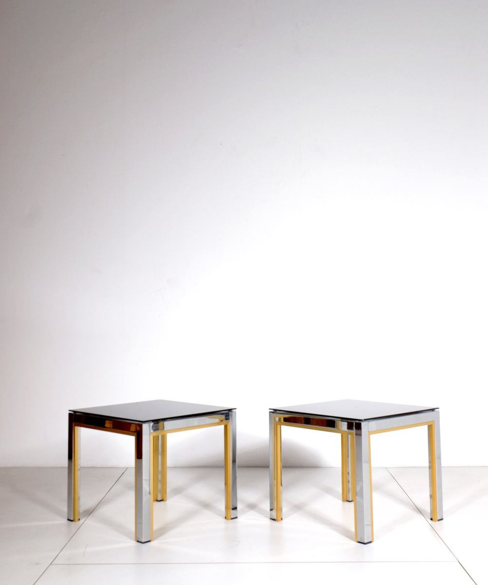table d 39 appoint de belgo chrom belgique 1980s set de 2 en vente sur pamono. Black Bedroom Furniture Sets. Home Design Ideas