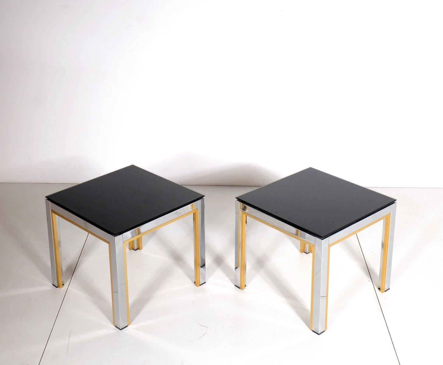 table d 39 appoint de belgo chrom belgique 1980s set de 2 en vente sur pamono. Black Bedroom Furniture Sets. Home Design Ideas