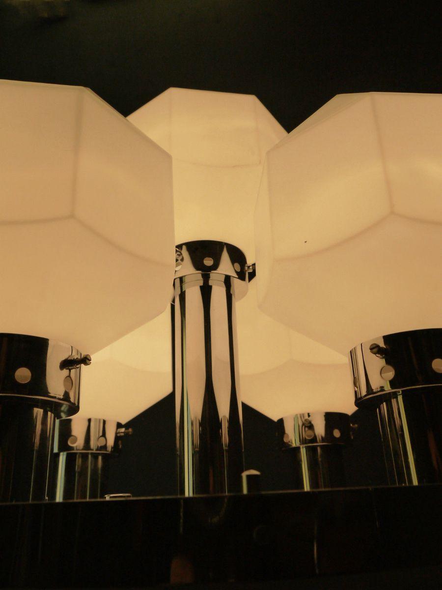 gro e rautenf rmige wandleuchte oder deckenleuchte 1970er bei pamono kaufen. Black Bedroom Furniture Sets. Home Design Ideas