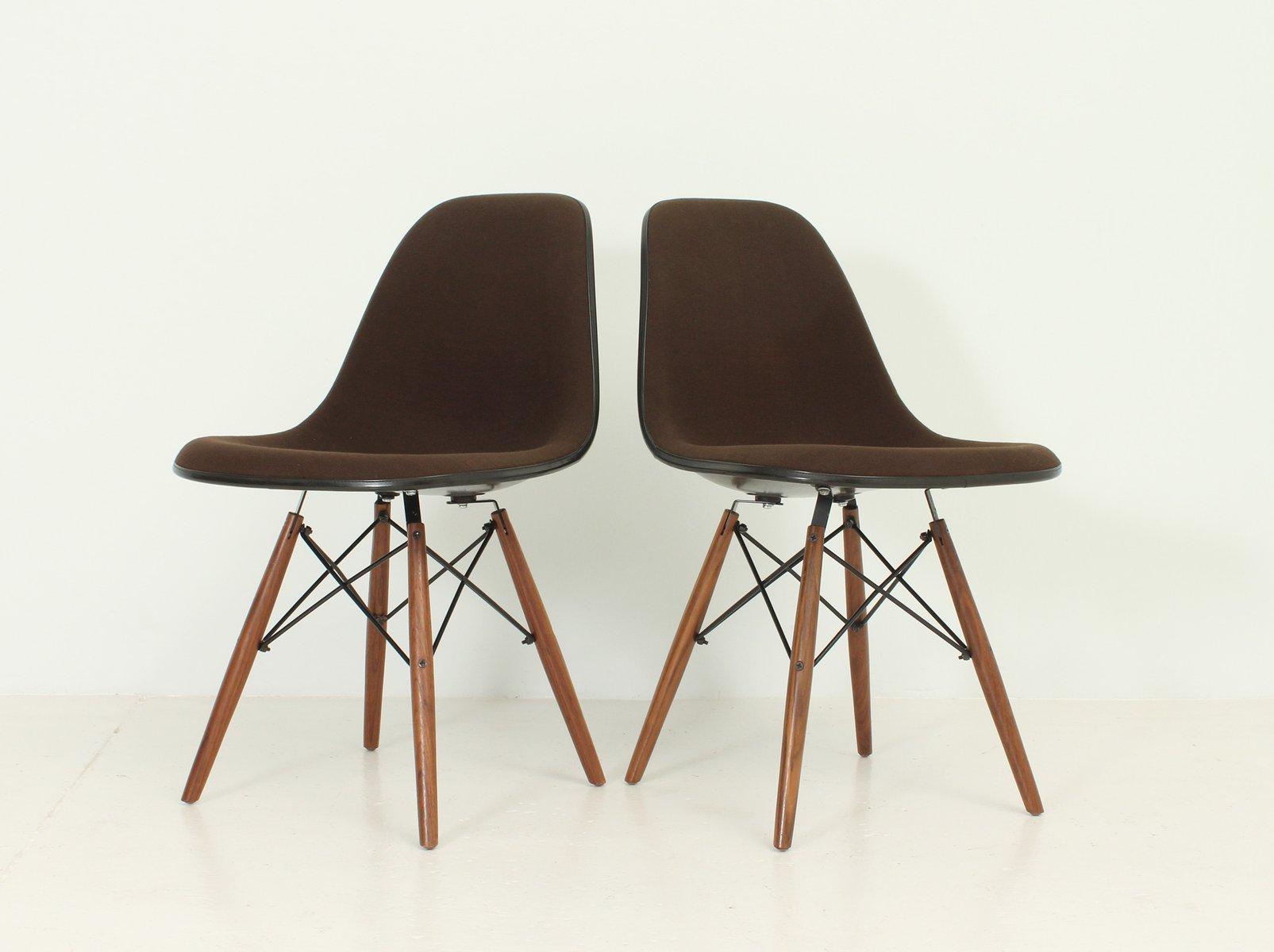 vintage dsw st hle von charles und ray eames f r herman miller 2er set bei pamono kaufen. Black Bedroom Furniture Sets. Home Design Ideas