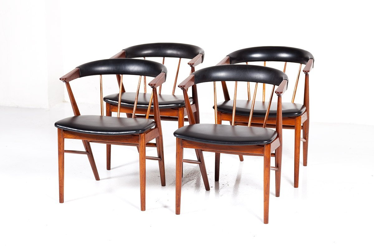 Mid Century Modern Danish Chairs By Helge Sibast For Sibast 1960s