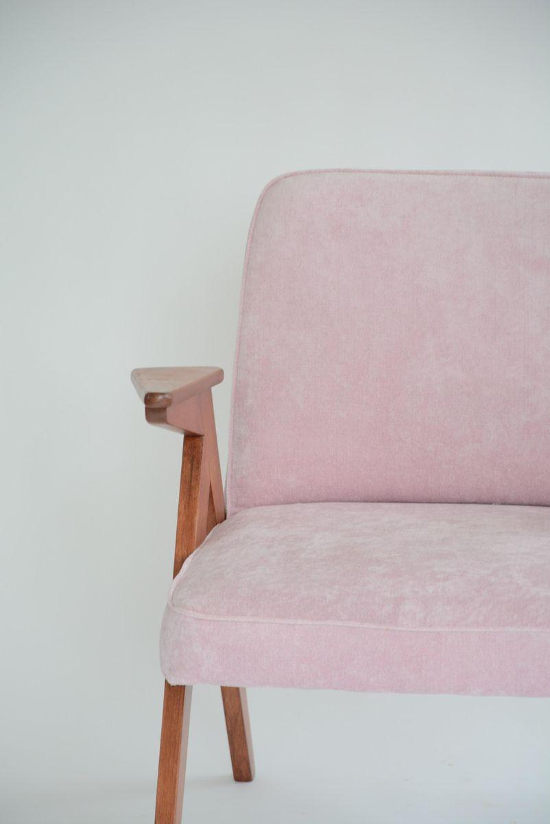 fauteuil bunny vintage velours rose en vente sur pamono. Black Bedroom Furniture Sets. Home Design Ideas