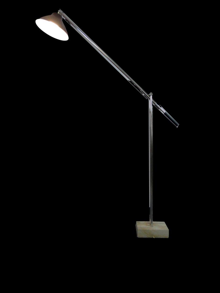Verstellbare italienische Stehlampe, 1950er