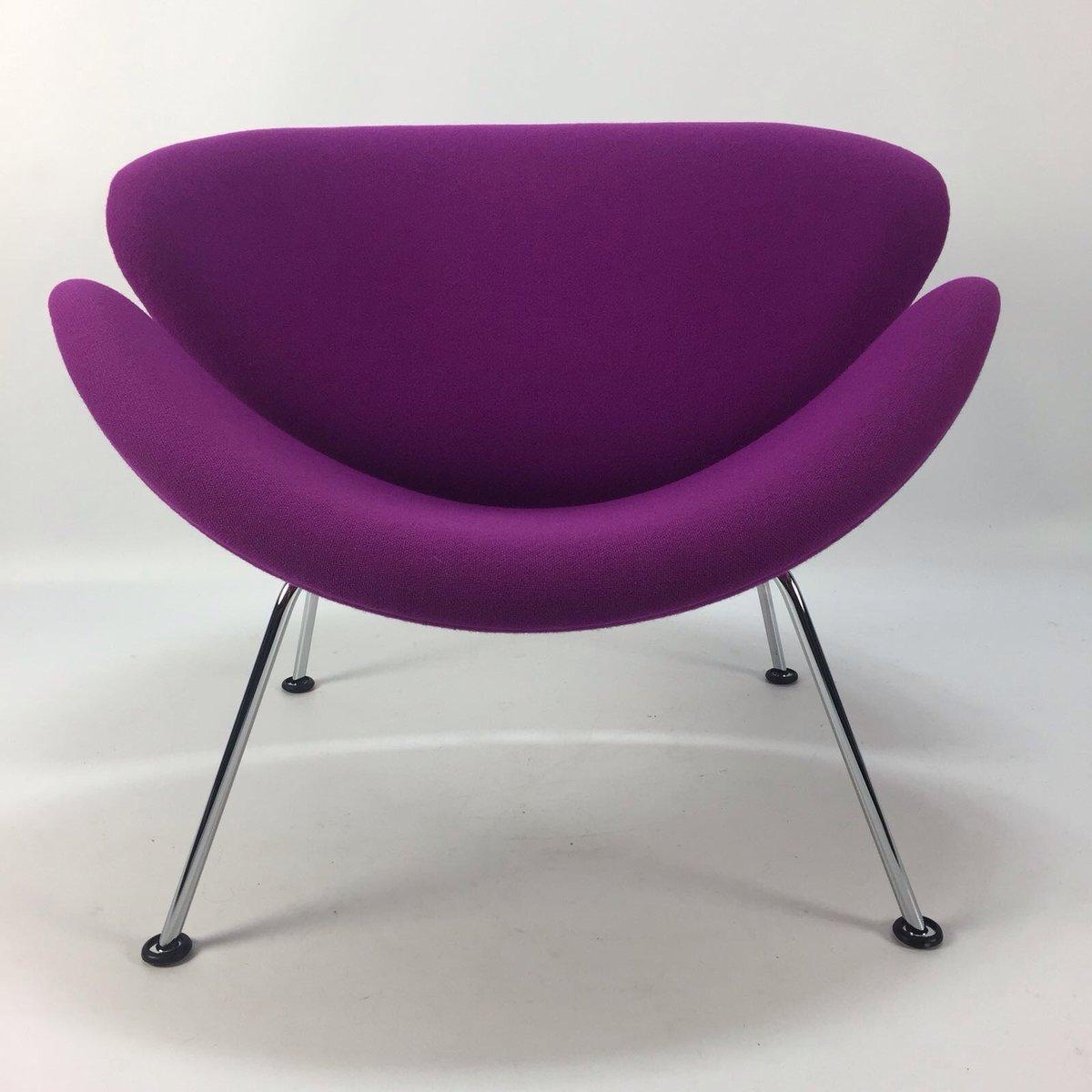 fauteuil ottomane orange slice par pierre paulin pour artifort 1960s en vente sur pamono. Black Bedroom Furniture Sets. Home Design Ideas
