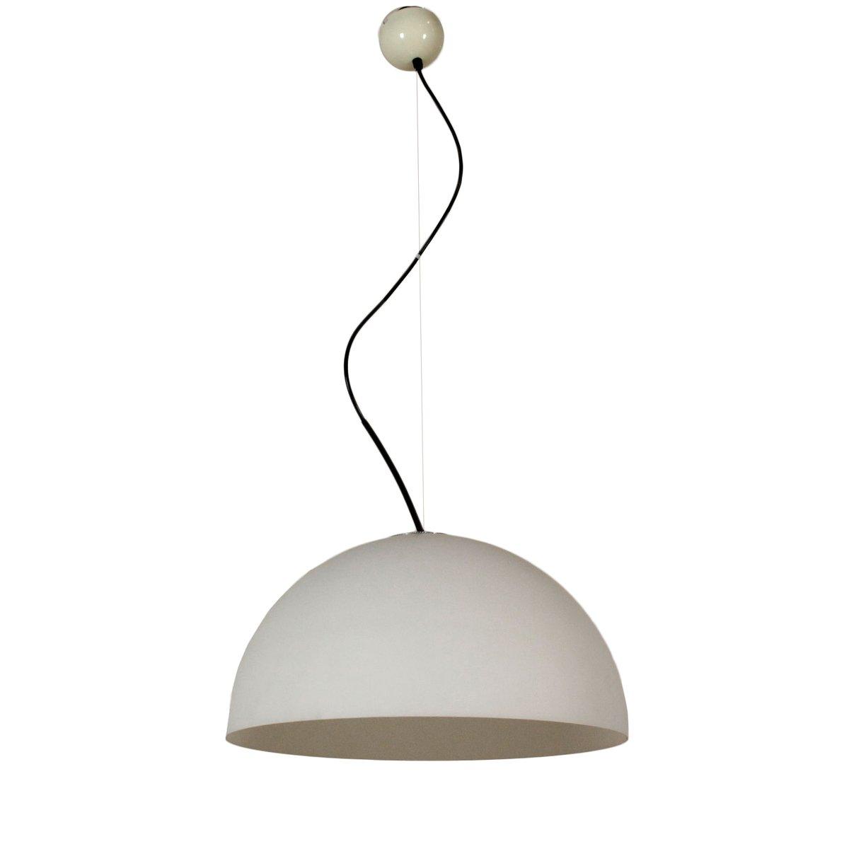 Italienische Vintage Opalglas Deckenlampe von Vico Magistretti für Olu...