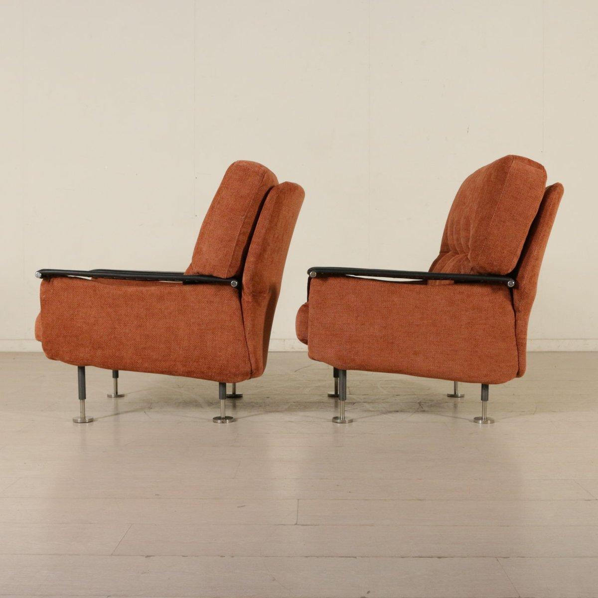 italienische sessel mit fu schemel 1960er 2er set bei pamono kaufen. Black Bedroom Furniture Sets. Home Design Ideas