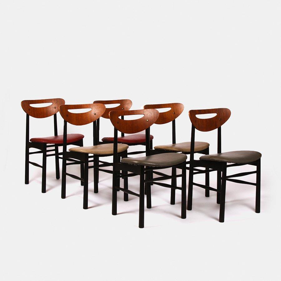 ensemble de salle manger en teck extensible 1960s en vente sur pamono. Black Bedroom Furniture Sets. Home Design Ideas