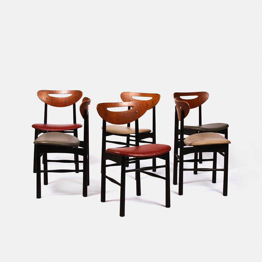 ausziehbares teak esszimmer set 1960er bei pamono kaufen. Black Bedroom Furniture Sets. Home Design Ideas