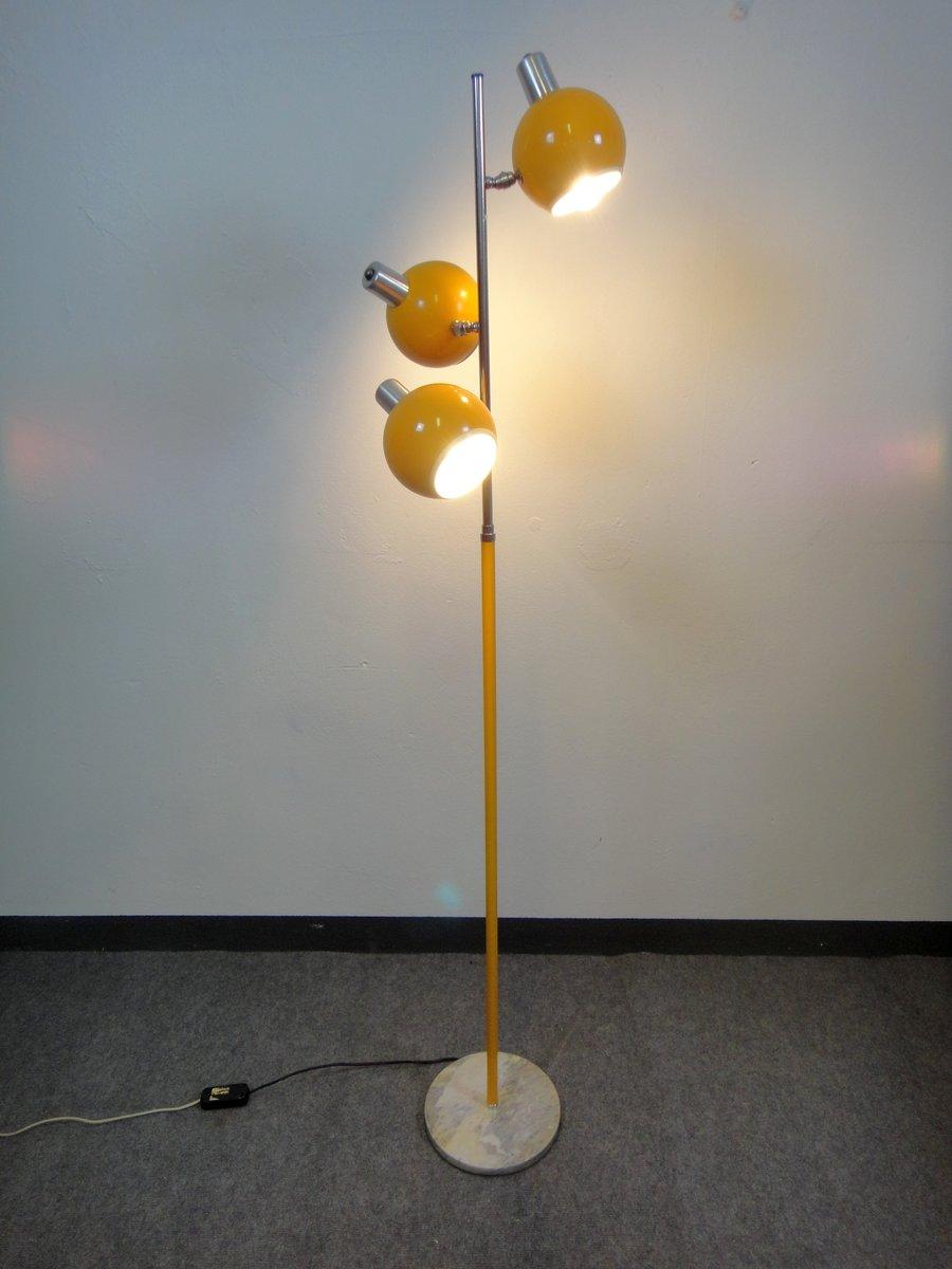 Italienische stahl stehlampe mit 3 verstellbaren leuchten for Italienische leuchten