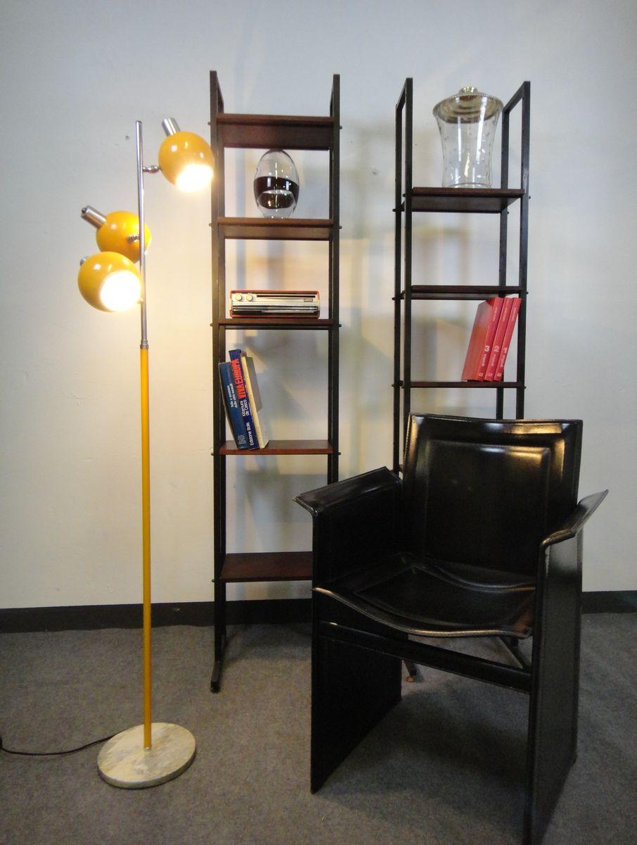 italienische stahl stehlampe mit 3 verstellbaren leuchten 1960er bei pamono kaufen. Black Bedroom Furniture Sets. Home Design Ideas