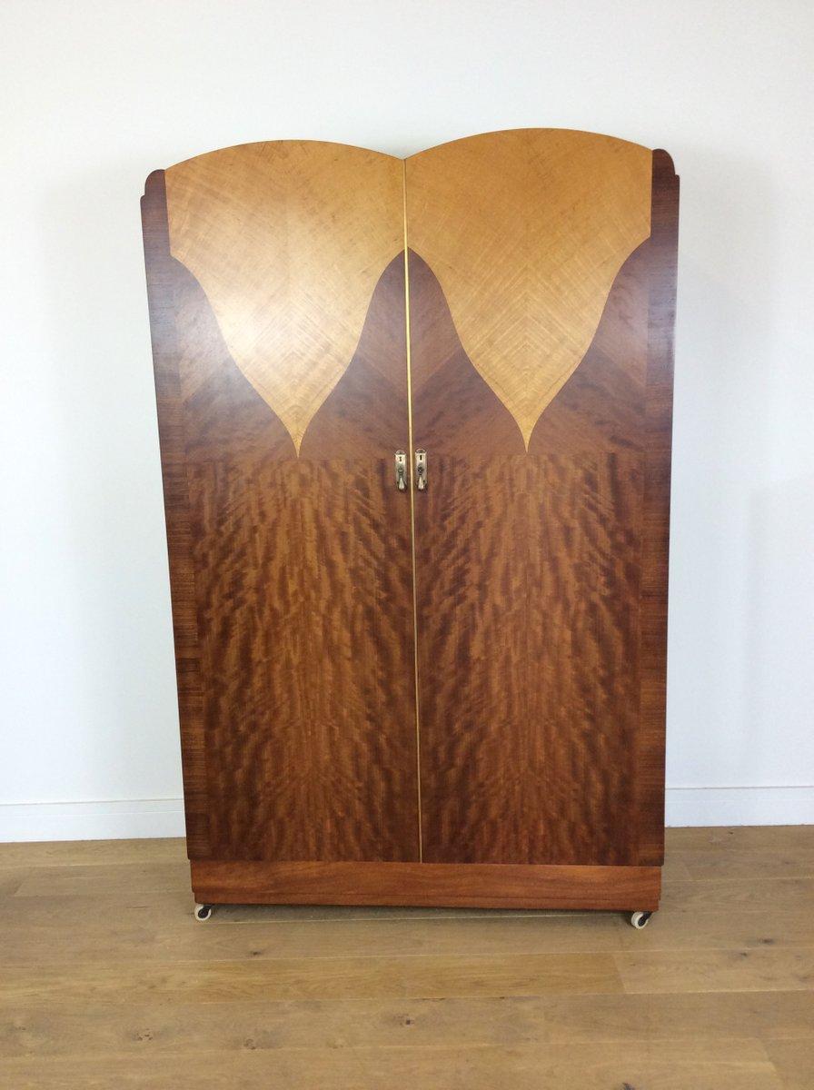 Art Deco Kleiderschrank von Maple & Co., 1930er