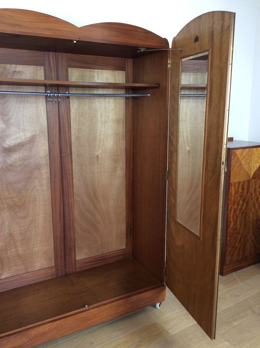 penderie art d co de maple co 1930s en vente sur pamono. Black Bedroom Furniture Sets. Home Design Ideas