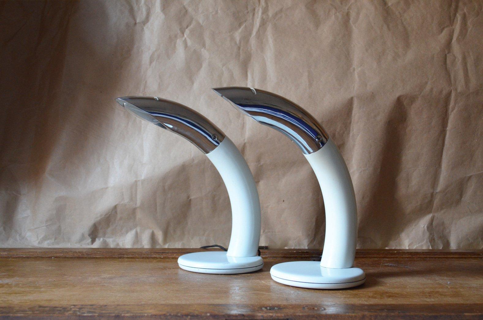 Vintage Flipper Lampen von Fase, 2er Set