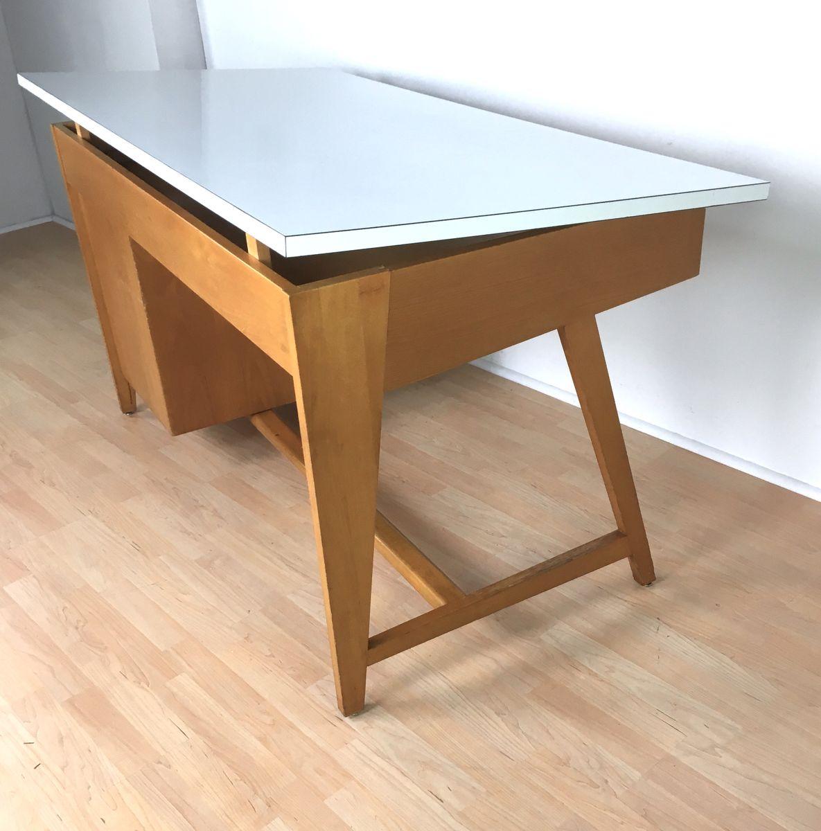 deutscher mid century schreibtisch von leuwico 1960er bei. Black Bedroom Furniture Sets. Home Design Ideas
