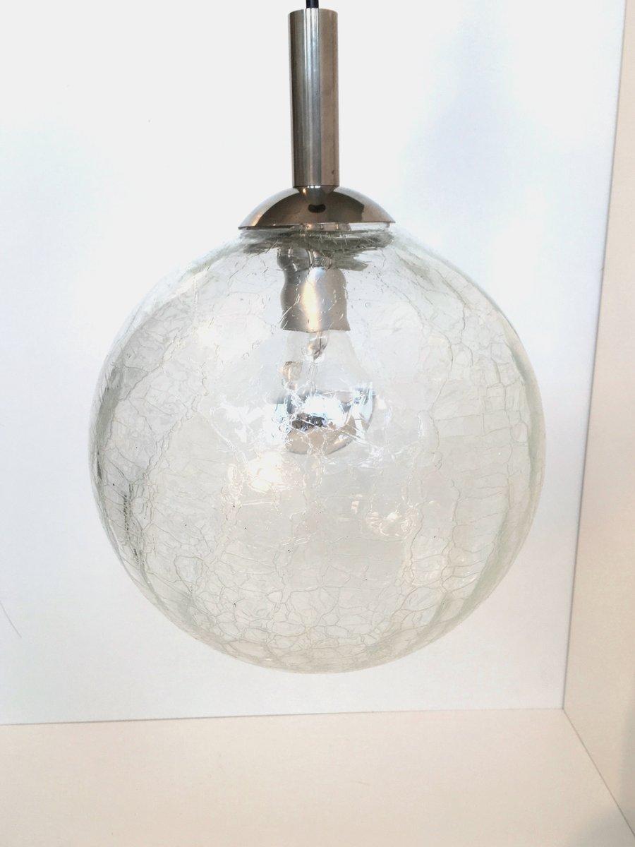Mid-Century Krakelee Deckenlampe, 1960er