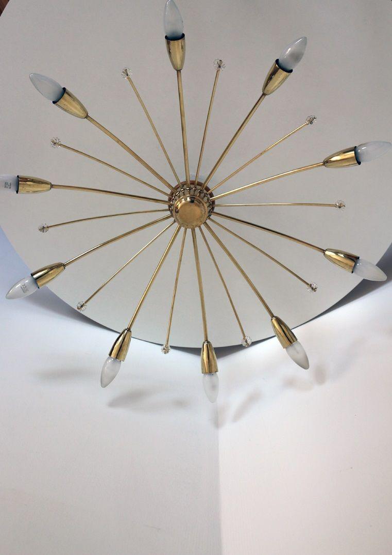 Vintage Deckenlampe von Kalmar